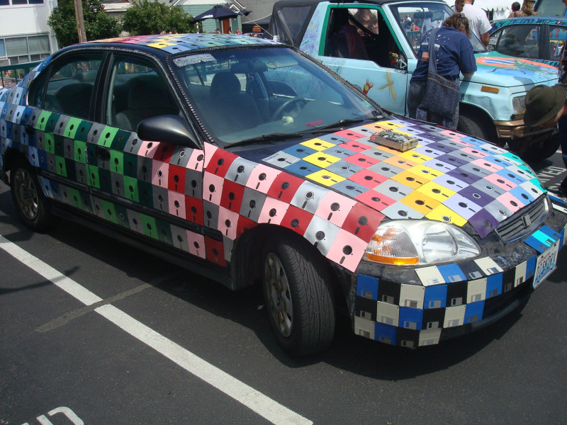 fremont fair art car floppy disk